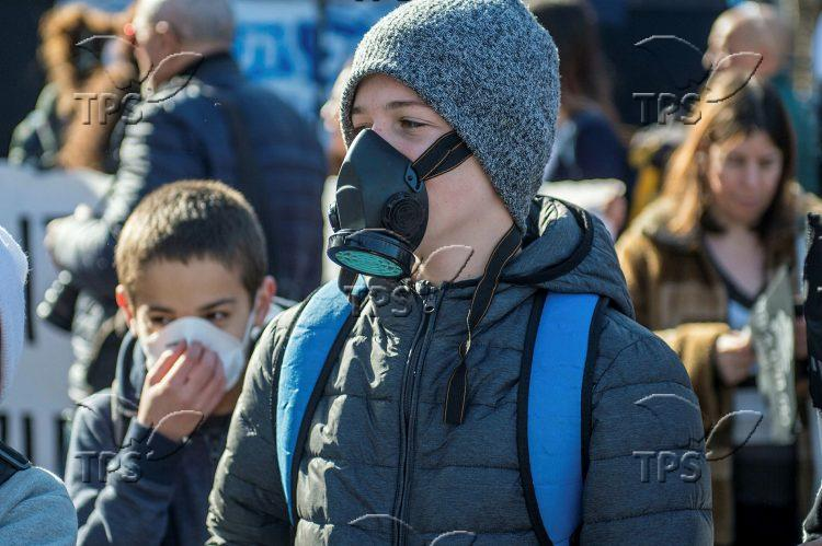 Protest against Noble Energy Leviathan gas platform test