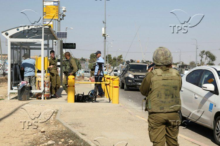 scene of attempted terrorist attack at the Gush Etzion Junction