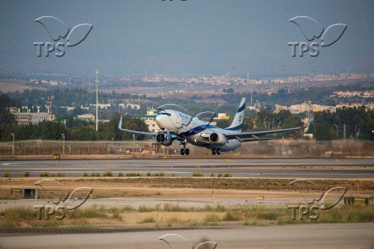 Israeli airline, El Al's plane