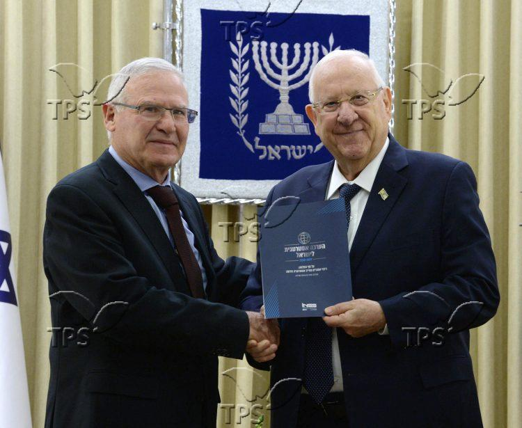 Amos Yadlin Presents Annual Report to President Rivlin