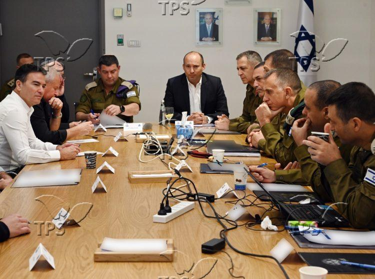 Security Meeting in Headquarters in Tel Aviv