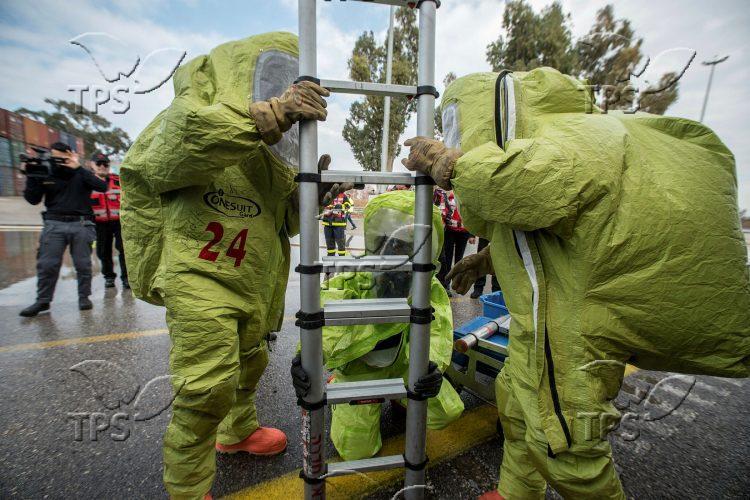 Israel Fire and Rescue dangerous substances' maneuver