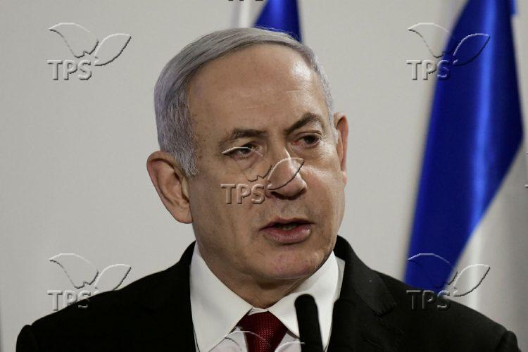 Press conference in Ha-Kirya Tel Aviv