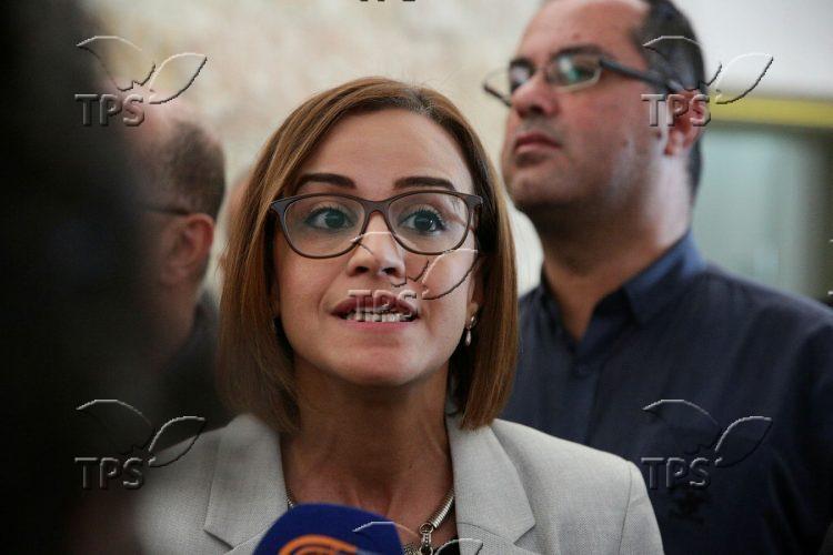 MK Heba Yazbak at the Supreme Court in Jerusalem