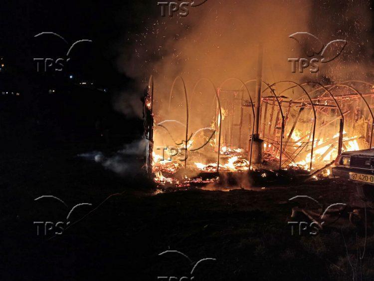 Fire at Esh Kodesh in Shiloh Valley