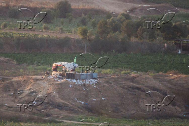 Hamas outpost on the border
