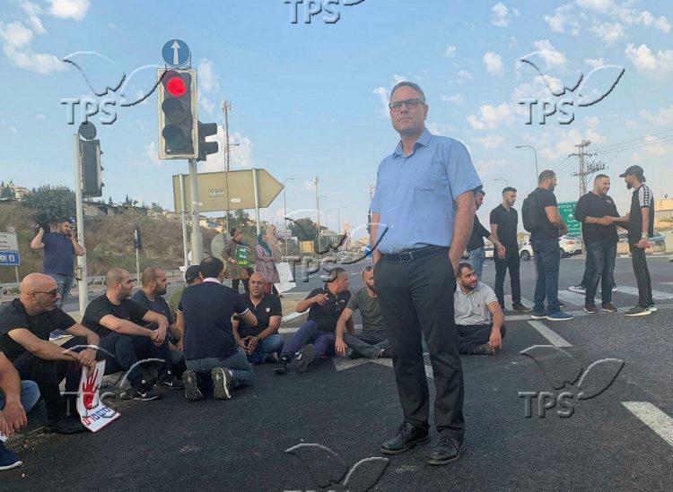 Arab Israeli demonstration in Umm Al-fahm