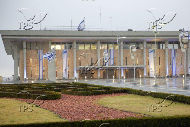Snowfall on The Knesset