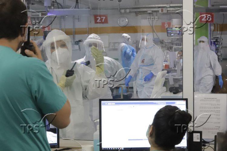 Coronavirus isolation ward in the Chaim Sheba Medical Center