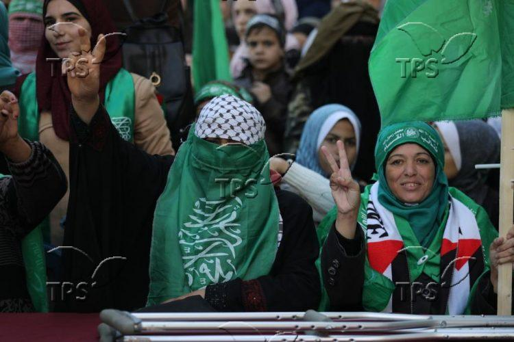 Hamas rally in Gaza Strip