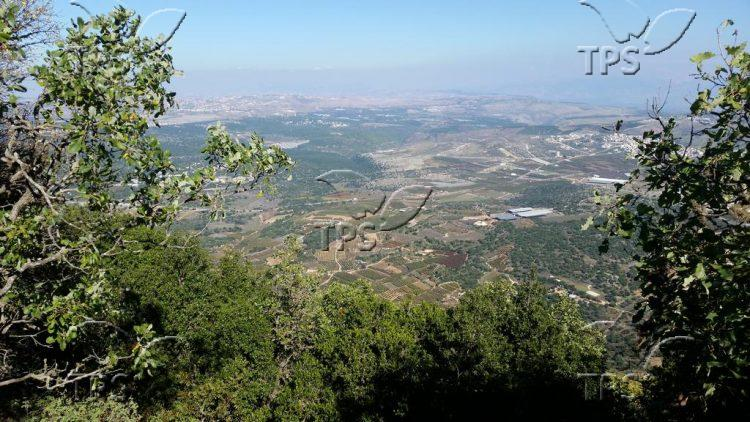 Panoramic landscape on the upper Galilee