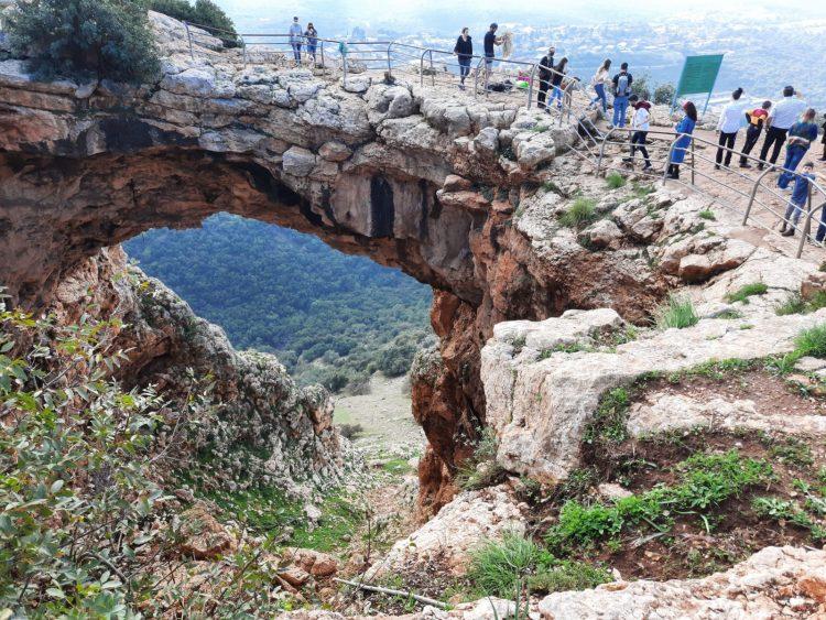 Keshet cave at Park Adamit