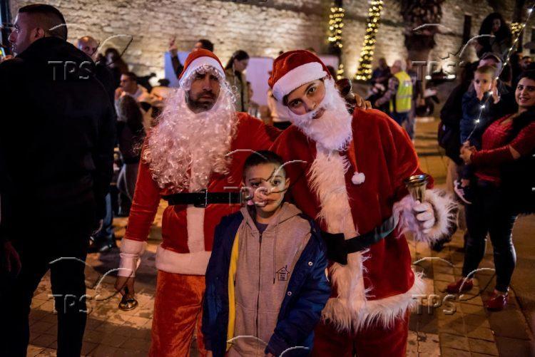 Christmas tree lighting in Jaffa