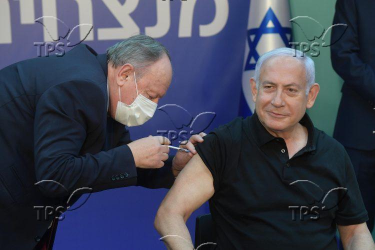 PM Netanyahu receiving 2nd dose of vaccine