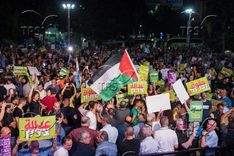 Rally against nation – state law near Tel Aviv Museum of Art