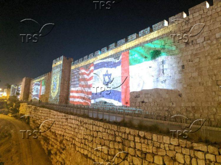 The walls of the old city on a day of signing a peace agreement