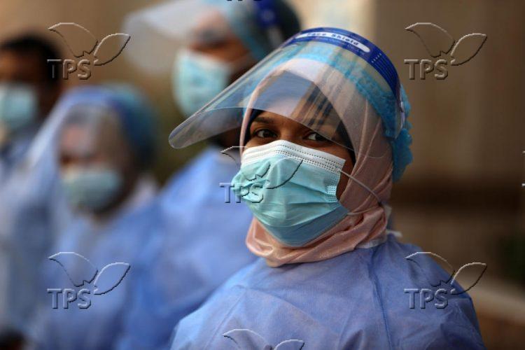 UN-run clinic in Gaza City amid the coronavirus pandemic