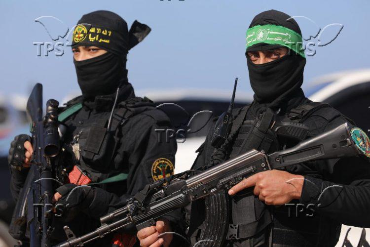 Hamas' military exercise in the Gaza Strip