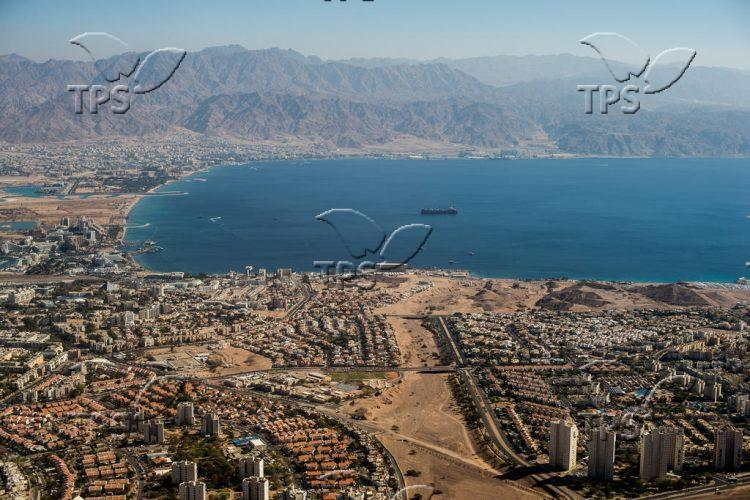 Aerial photos of Eilat and the Red Sea