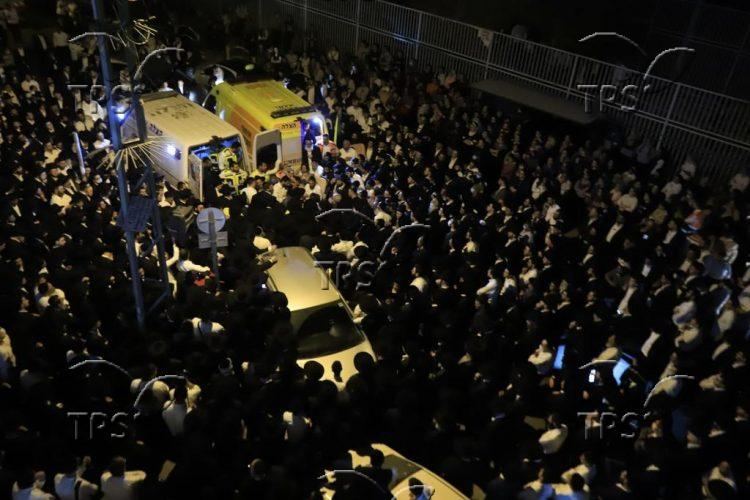 Funeral of Yedidia Hayut, a victim in the disaster on Lag B'Omer