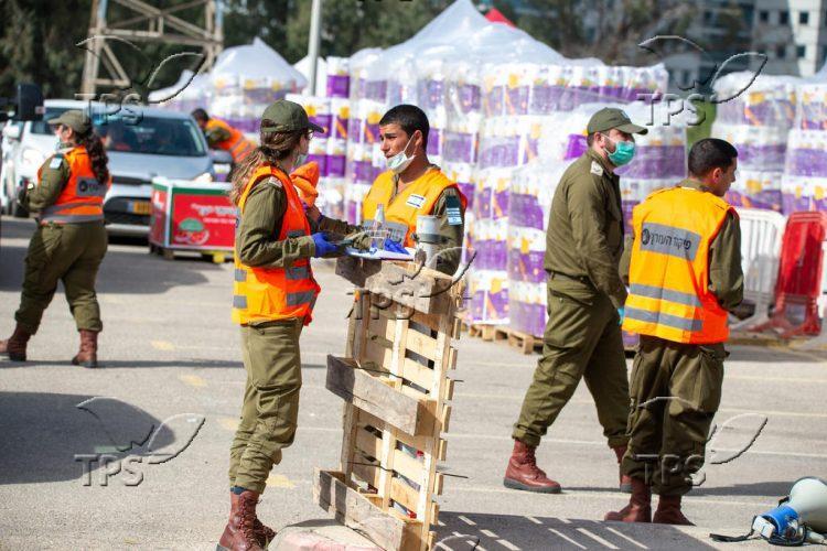 Logistic center in Bnei Brak amid Coronavirus