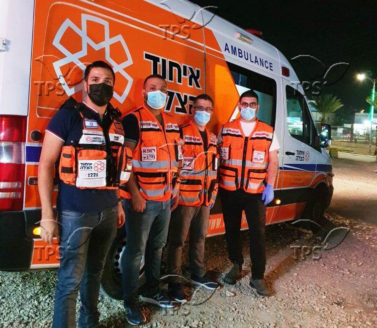 Jewish and Muslim volunteers on an ambulance shift in Jerusalem (illustration)