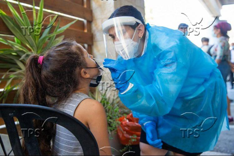 Coronavirus rapid testing center in Jerusalem
