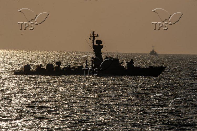 Israeli navy Dvora patrol boat in northern Israel